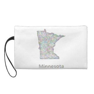 Minnesota map wristlet