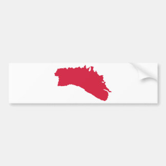 Minorca map bumper sticker