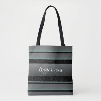 Mint and Sprinkles Striped Bridesmaid Bag