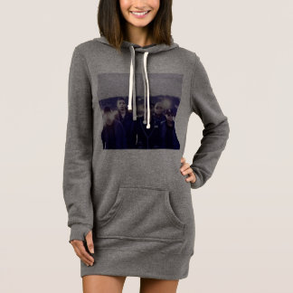 Mint Band Photo Hoodie Dress
