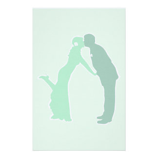 Mint Bride and Groom Stationery