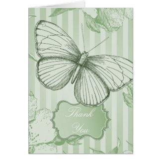 Mint Butterfly Note Card