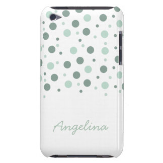 Mint Dots Barely There iPod Case