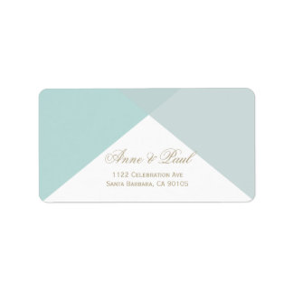 Mint geometric Address Labels