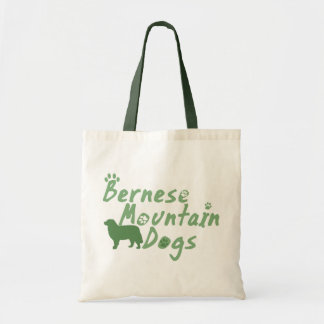 Mint Green Bernese Mountain Dog Tote Bag