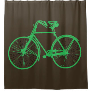 mint green bike bicycle Shower curtain