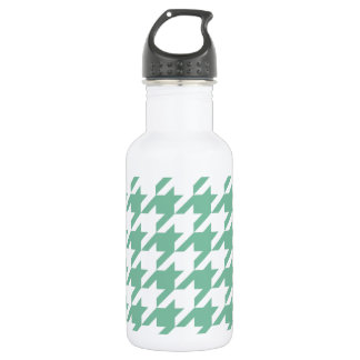 Mint Green Houndstooth 532 Ml Water Bottle