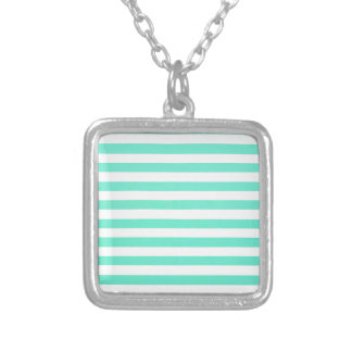Mint Green Large White Stripes Jewelry