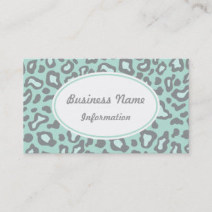 Nail salon appointment business cards zazzle nz mint green leopard business card colourmoves