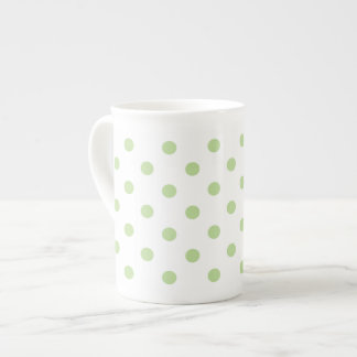 Mint Green Polka Dot Tea Cup
