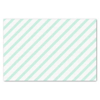 Mint Green Tissue Paper with Stripes