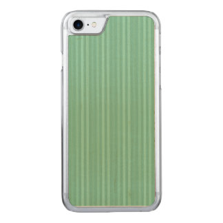 Mint Green Vertical Stripes Pattern Carved iPhone 8/7 Case