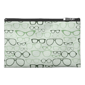 Mint Hipster Glasses Travel Accessory Bags