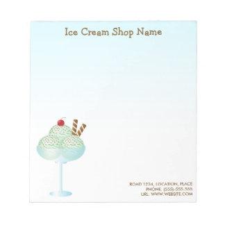 Mint Ice Cream Sundae Ice Cream Shop Business Notepad