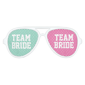 Mint pink Team Bride bachelorette party shades