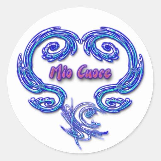 Mio Cuore Sticker (Italian - white)