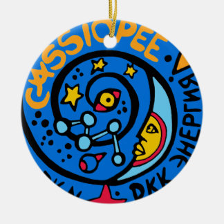 Mir-Cassiopee Mission Patch Christmas Tree Ornament