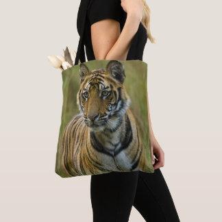 Mirchaini Cub Female Tiger (Bandhavgarh, India) Tote Bag