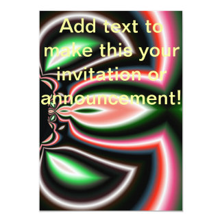Mirror Flame Abstract 5x7 Paper Invitation Card
