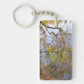 Mirrored Branches Key Ring