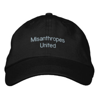 Misanthropes United Embroidered Baseball Cap