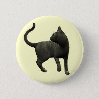Mischievous Black Cat Button