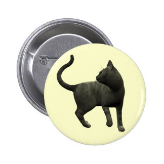 Mischievous Black Cat Button