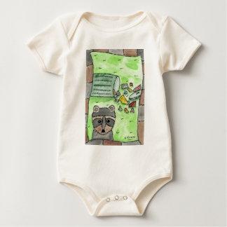 Mischievous Racoon Baby Bodysuit