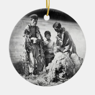 Misery in China, c.1875 (b/w photo) Christmas Ornament