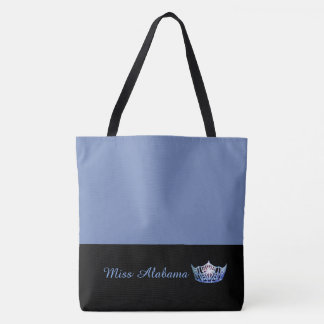 Miss America Blue Crown Tote Bag-Medium Blue