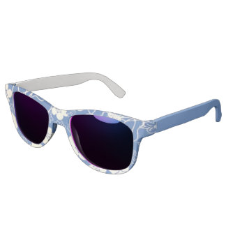 Miss America Blue Floral Print Sunglasses