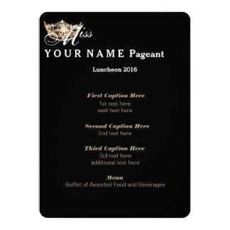 Miss America Gold Crown Luncheon Program Card 14 Cm X 19 Cm Invitation Card