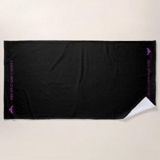 Miss America Rodeo Custom Fuchsia Crwn Beach Towel