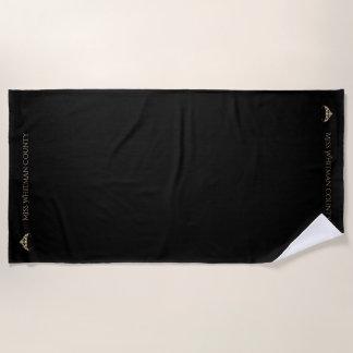 Miss America Rodeo Custom Gold Crown Beach Towel