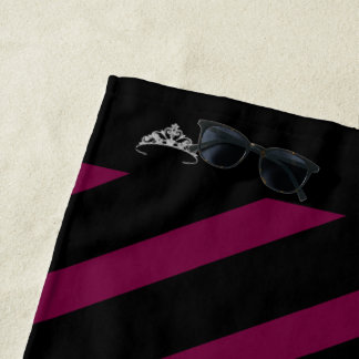 Miss America Rodeo Merlot Stripe Crown Beach Towel