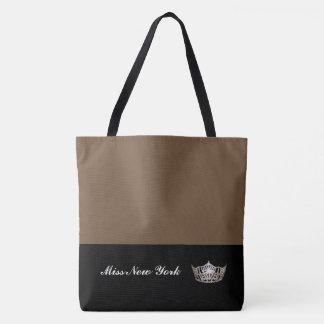 Miss America Silver Crown Tote Bag-Large Brownie