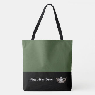Miss America Silver Crown Tote Bag-Large Cactus