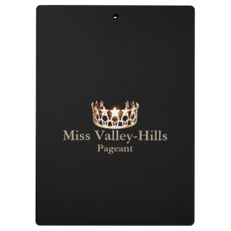 Miss America USA style Crown Clipboard w/ Reverse