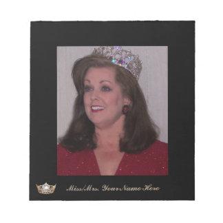 Miss American Style Crown Custom Autograph Pad
