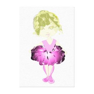 Miss-fit Pink Ballet Dancer Digital Art  Wrapped C Canvas Print