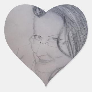 Miss Norma Heart Sticker