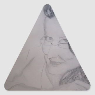 Miss Norma Triangle Sticker