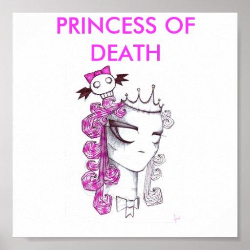 miss-pink-skull, PRINCESS OF DEATH Print
