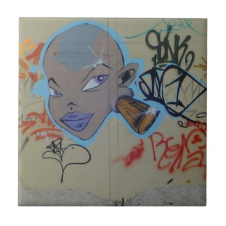 Miss Thing Graffiti Ceramic Tiles