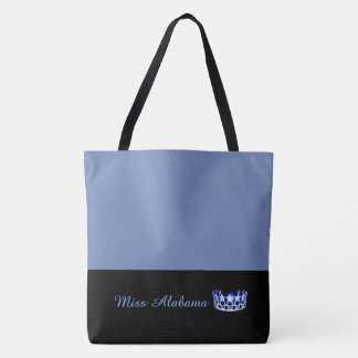 Miss USA Blue Crown Tote Bag-Medium Blue