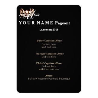 Miss USA Gold Crown Luncheon Program Card 14 Cm X 19 Cm Invitation Card