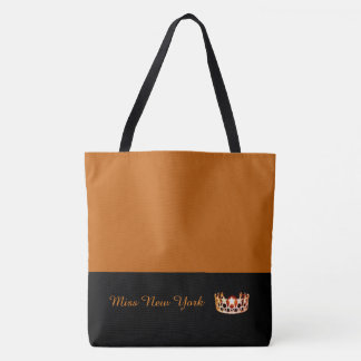 Miss USA Orange Crown Tote Bag-LRGE Pumpkin