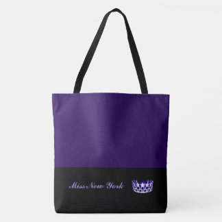 Miss USA Purple Crown Tote Bag-LRGE Blackberry