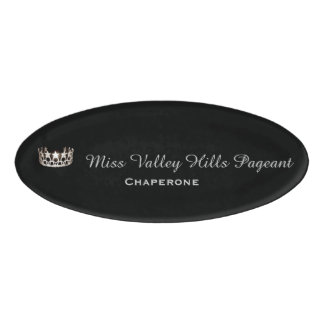 Miss USA Silver Crown Oval Name Tag