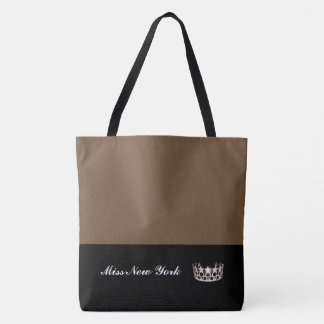 Miss USA Silver Crown Tote Bag-Large Brownie